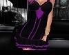 purple black dress