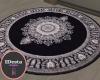 onyx black round rug