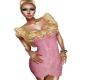 Pink/gold lace dress