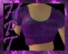 h deep purple crop top
