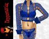 Celtic Cotton Suit BLUE