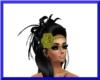 Rave hair flower/blinkin