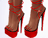 Red new year heels