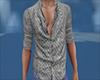 Grey pattern open shirt
