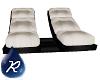 {R} White Dbl Chaise