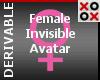 Invisible Female Avatar