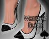 Cat~ White & Black Pumps