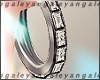 A | Silver diamond creol