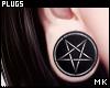 金. Pentagram Plugs