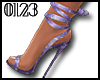 *0123* TieUpHeels Purple