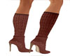 Swag Brown Suade Booties