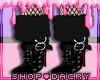 Black Fur Boots