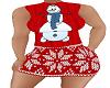 Christmas dress snowman