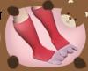 [LW]Mom&Kid Bunny Feet