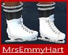 White Ice Skates-Socks