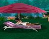 Umbrella Beach Kiss