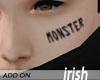 - Face Tattoo - Monster