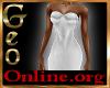 Geo Rachael Gown white