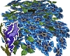 Blue Flower Hanging Bask