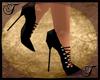 Black Suede  Spike Heels