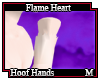 Flame Heart Hoof Hands M