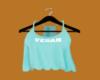 Lacy Crop V4 Aqua Vegan