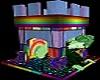 rainbow pet castle