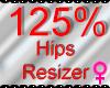 *M* Hips Resizer 125%