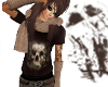 Skull Tee With Scarf