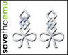 [E] Bow Earrings SILVER