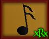Music Note 2 Black
