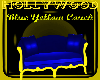 blue and yellow couch