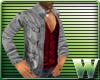 *WW* GQ Jacket Gray/Red