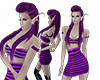 purple mini spiked