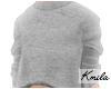 |K Crop Sweater Grey