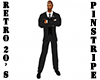 Retro 20's Black Suit