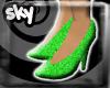 Sparkly Neon green siren