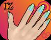 [IZ] Seafoam Nails