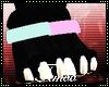 T|» Pink & Teal Anklet