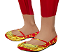 Versace Red/Gld Flats