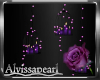 Purple Rose Candles