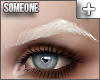 + pointed brows white