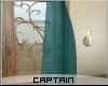 Single Teal Curtain