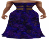Blue Sheath Long Dress