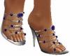 Sapphire spiked heels