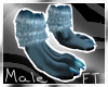 (M) Blue Anthro Paws[FT]