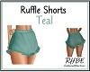 RHBE.RuffleShortsTeal