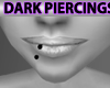 Black Stud Lip Piercing