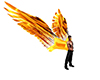 Flaming Animated Wings