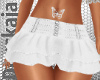 jeans skirt white